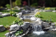 A natural flowing water feature